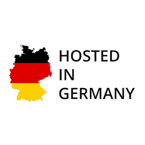 Hosted in Germany